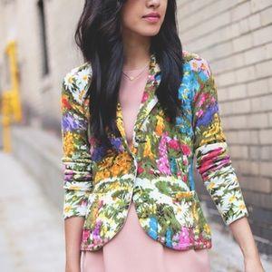 Anthropologie Adjua floral cardigan blazer sweater